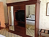 Wardrobe - with TV stand and 2 Mirrored Doors