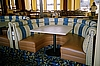 Restaurant Booths - Upholstered (excellent condition)shown with pedestal table