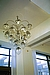 Large Chrome and Glass Chandelier