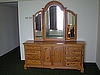 Dresser with 3 Section Mounted Mirror