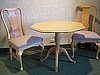 Pedestal Table $25.00 shown with (2) Queen Anne Side Chairs - $35.00 each