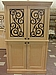 Armoire- 4 Door with Pull Out TV Stand-Wrought Iron Decoration - Manufactured By Drexel