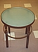 Side Table- Wrought Iron Base With Frosted Glass Top